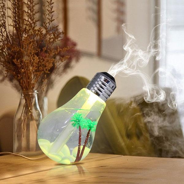 Bán sỉ máy phun sương tạo ẩm hình bóng đèn đổi 7 màu