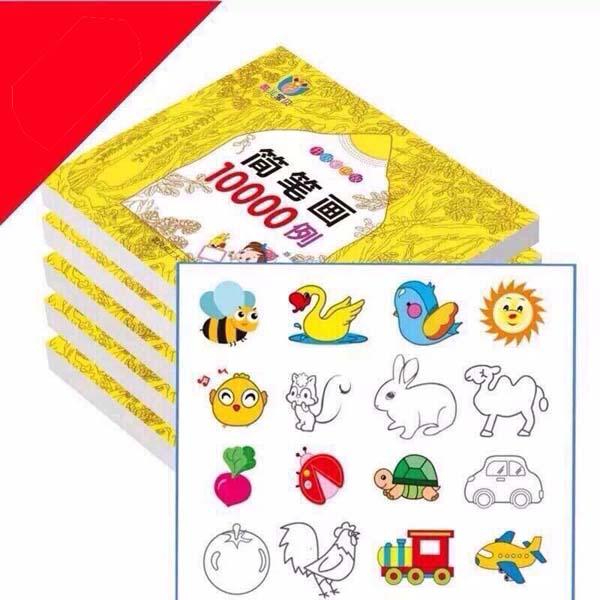 Bán sỉ sách tô màu 10000 hình kèm 12 bút màu cho bé