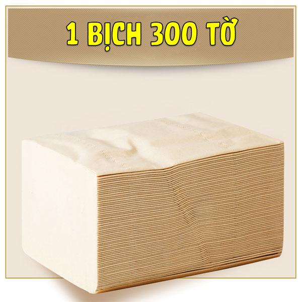 Bán sỉ thùng 27 gói giấy sợi tre Sipiao siêu dai