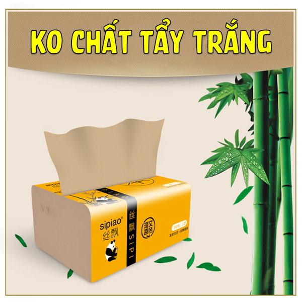Bán buôn thùng 27 gói giấy sợi tre Sipiao siêu dai