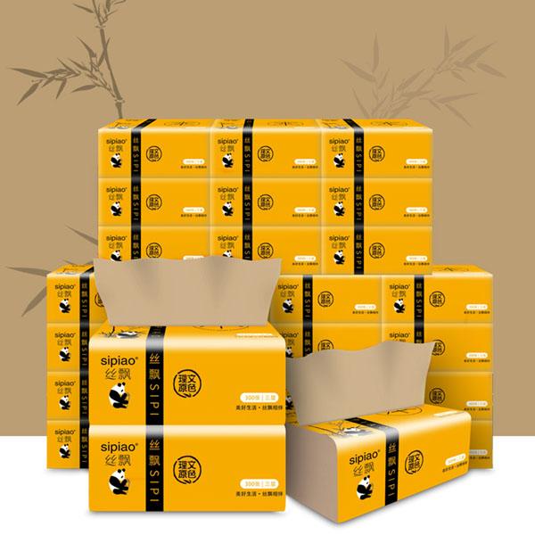 Thùng 27 gói giấy sợi tre Sipiao siêu dai