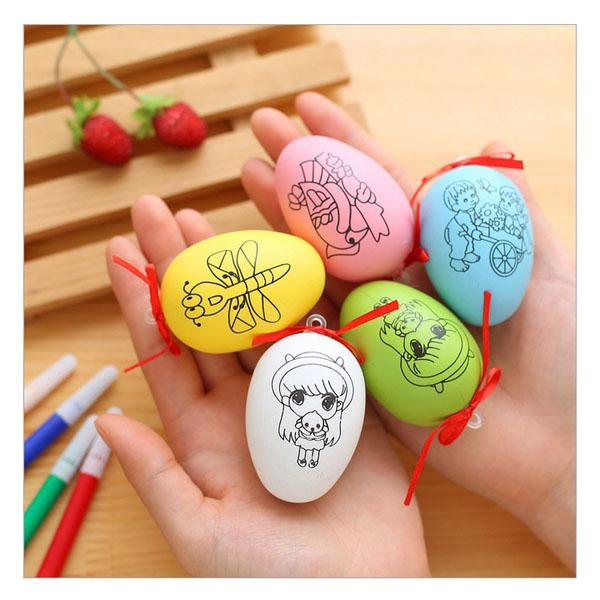 Trứng tô màu kèm 4 bút dạ cho bé