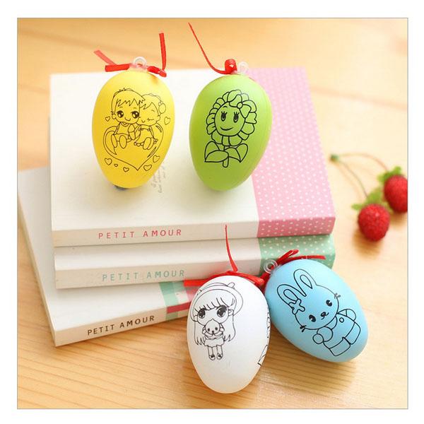 Bán sỉ trứng tô màu kèm 4 bút dạ cho bé