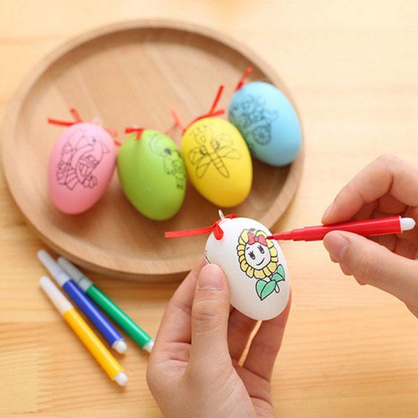 Bán buôn trứng tô màu kèm 4 bút dạ cho bé