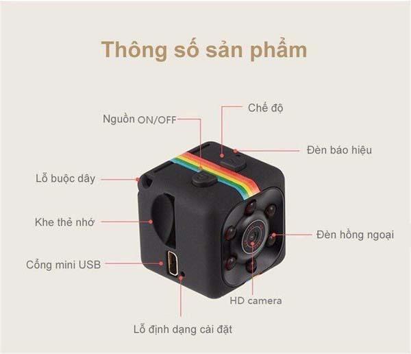Bán buôn camera hành trình siêu nhỏ SQ11 Full HD