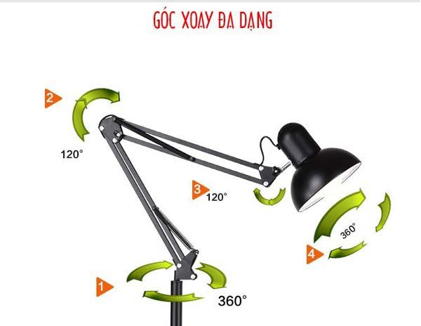 Bán sỉ đèn học kẹp bàn chống cận thị cao cấp