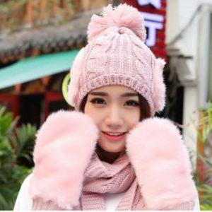 Khăn mũ len dễ thương cho bạn gái