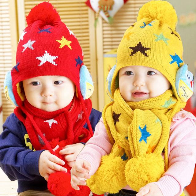 Bán buôn mũ khăn len cho bé