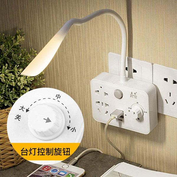 Ổ điện đa năng kiêm đèn ngủ cảm ứng có triết áp