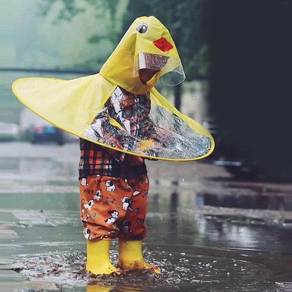 Bán sỉ áo mưa nón con vịt cho bé siêu kute