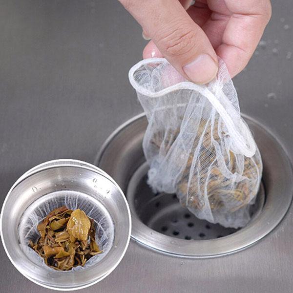 Bộ 100 túi lưới lọc rác bồn rửa bát