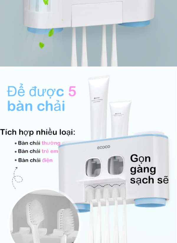 Bán buôn Bộ nhả kem đánh răng Ecoco cao cấp