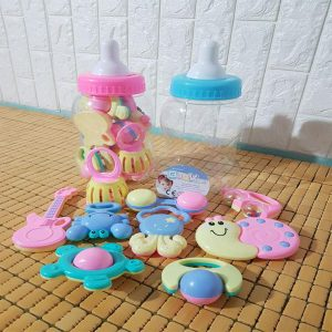 Bộ xúc xắc bình sữa 9 món Baby Toys cho bé