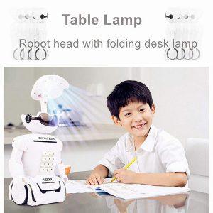 Đèn học robot phát nhạc kiêm két đựng tiền cho bé