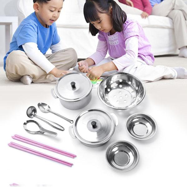 Đồ chơi nấu ăn bằng inox 25 món cho bé