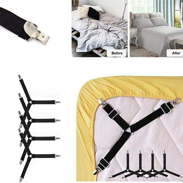 Bộ 4 đai kẹp ga giường chống xe dịch