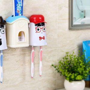 Bộ dụng cụ lấy kem đánh răng tự động kèm 2 giá treo bàn chải Ecoco