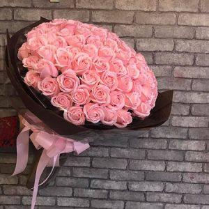 Bó hoa hồng sáp thơm 99 bông cực đẹp