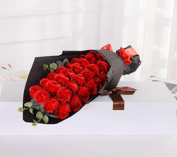 Bán buôn Bó hoa hồng sáp 33 bông Valentine