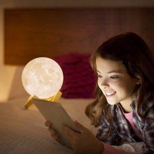 Bán buôn Đèn ngủ mặt trăng hình cầu Moonlight 12 cm kèm đế