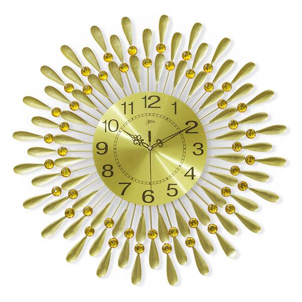 Đồng hồ treo tường giọt nước vàng cao cấp