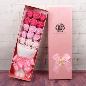 Hoa hồng sáp 18 bông 3 màu