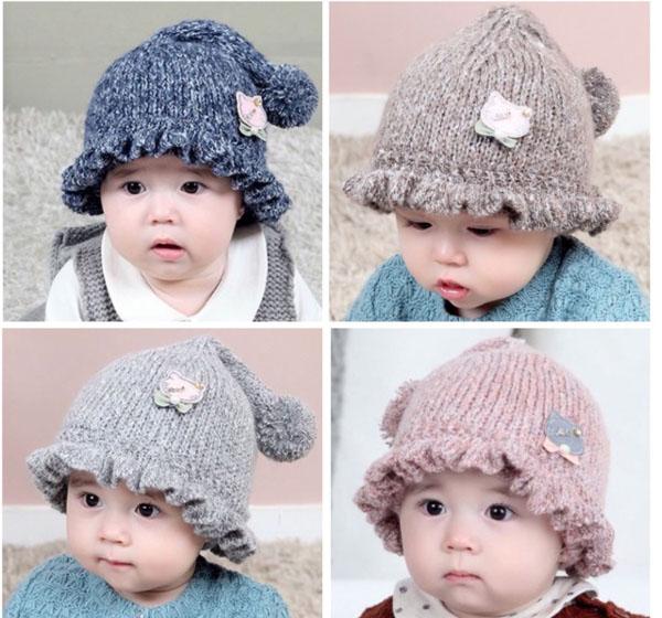 Mũ len đuôi dài nghộ nghĩnh cho bé