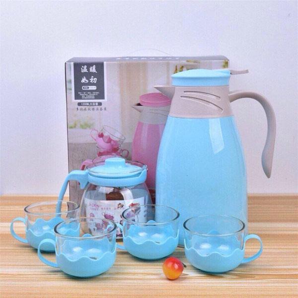 Bộ bình nước kèm bình trà và 4 cốc thủy tinh