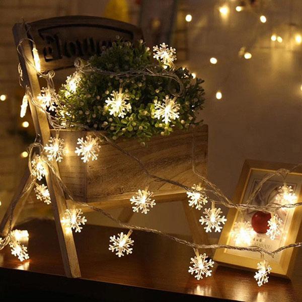 Dây đèn nháy trang trí hình hoa tuyết