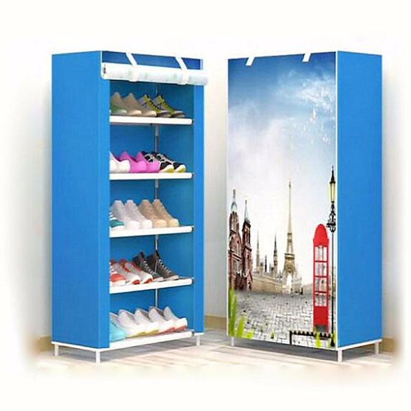 Tủ giày họa tiết 3D 5 tầng