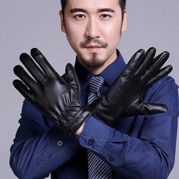 Găng tay da cảm ứng giá rẻ cho nam