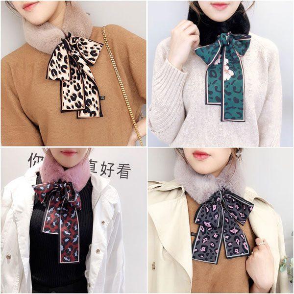 Khăn lông quàng cổ thắt nơ phiên bản Hàn Quốc