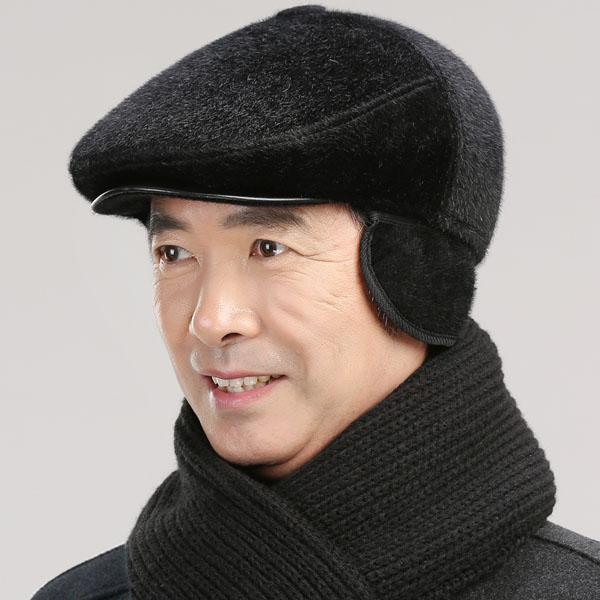 Mũ beret dạ lông dành cho người cao tuổi