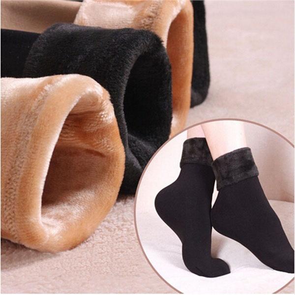 Bộ 5 đôi tất giữ nhiệt lót lông ấm áp cho bạn gái