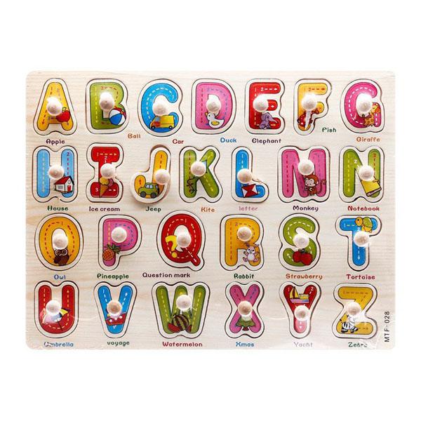 Bảng ghép hình chữ số có núm cho bé