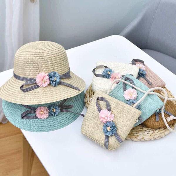 Set nón và mũ đi biển cho bé