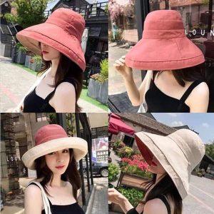 Mũ chống nắng rộng vành 2 mặt