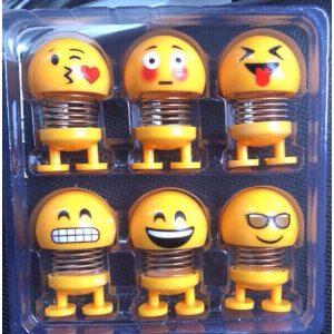 Set 6 lò xo mặt cười Emoji bé