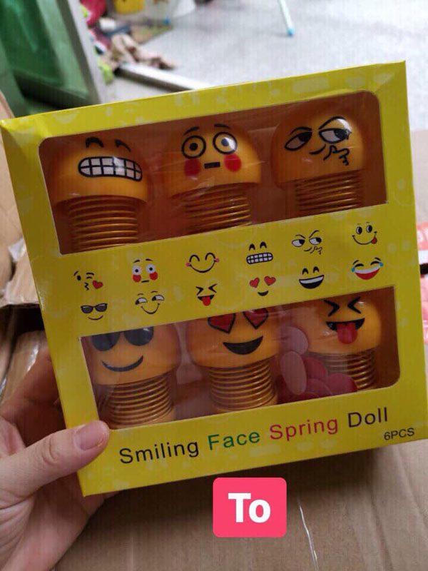 Set 6 thú nhún lò xo mặt cười