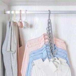 Bán buôn Móc treo quần áo đa năng 9 lỗ tiết kiệm diện tích
