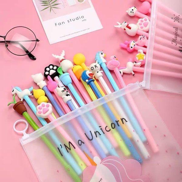 Túi 20 bút bi nước dễ pony dễ thương