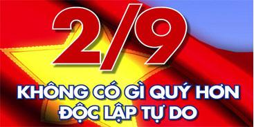 Chào mừng ngày quốc khánh Việt Nam 2/9/2019