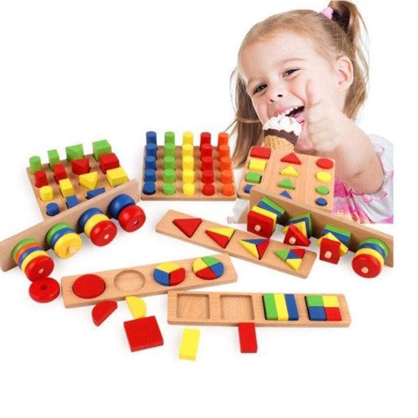Bộ giáo cụ mầm non 8 món Montessori