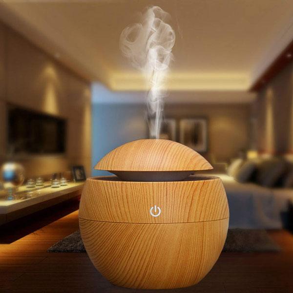 Bán sỉ Máy tạo ẩm khuếch tán tinh dầu vân gỗ 2019